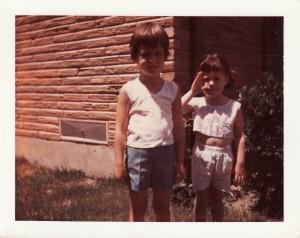 Kelly and Julie, circa 1968