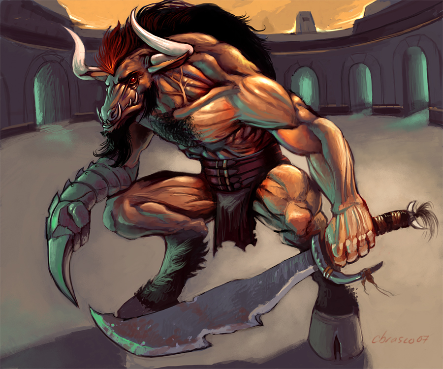 Minotaur_Gladiator_by_orgo