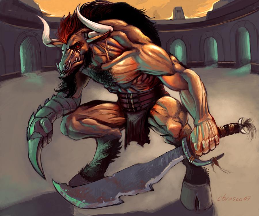 Minotaur_Gladiator_by_orgo
