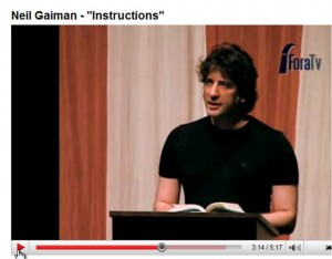 Neil Gaiman reading his poem, Instructions