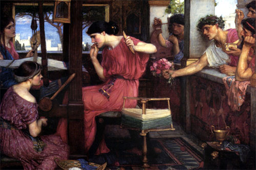 Penelope weaving color