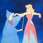 Fairy Godmother helping Cinderella