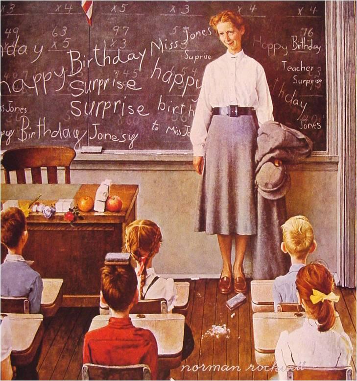Rockwell painting Teacher Class