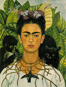 Frida Kahlo: Self Portrait with Thorn Necklace
