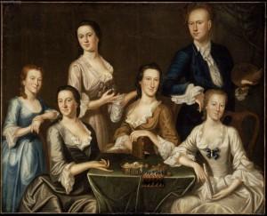 1747 John Greenwood (Amerian colonial era artist, 1727-1792) The Greenwood-Lee Family MFA (2)