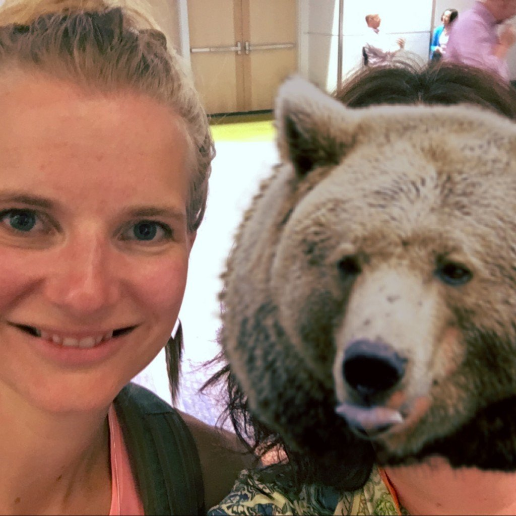 Since I looked tired, I replaced my normal beautiful face with a bear's face, courtesy of Animal Face.